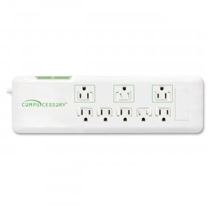 Compucessory 09854 2160 Joules 8-Outlet Surge Protector CCS09854