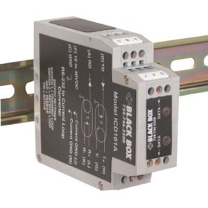 Black Box ICD101A RS-232 to Current Loop DIN Rail Converter with Opto-Isolation