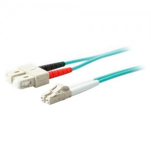 AddOn ADD-SC-LC-9M5OM4 9m Laser-Optimized Multi-Mode fiber (LOMM) Duplex SC/LC OM4 Aqua Patch Cable