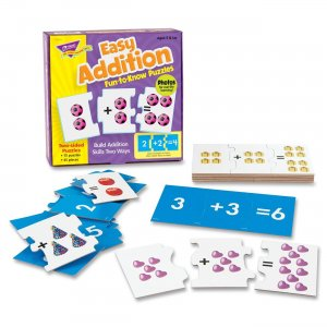 TREND T-36013 Trend Easy Addition Fun-to-Know Puzzles