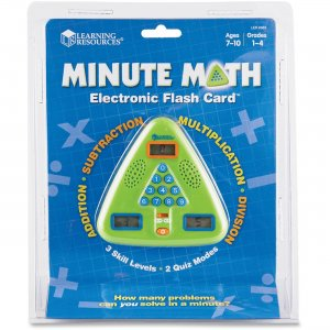 Learning Resources LER6965 Minute Math Electronic Flash Card