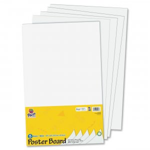 Pacon 5443 Half-size Sheet Poster Board PAC5443