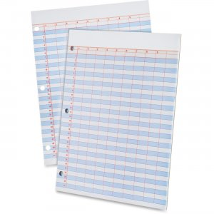 Ampad 22206 Heavyweight 3-Hole Punched Data Pads TOP22206
