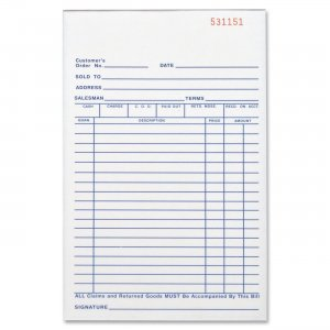 Business Source 39553 All-Purpose Triplicate Form BSN39553