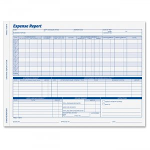 Adams 9032ABF Weekly Expense Report Forms ABF9032ABF