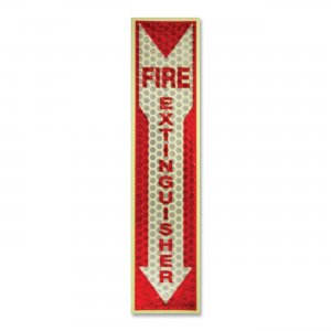 Miller's Creek 151833 Luminous Fire Extinguisher Sign MLE151833