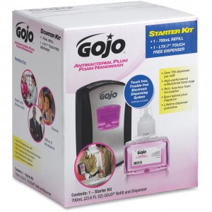 GOJO 1312D1 LTX-7 Plum Foam Dispenser Starter Kit GOJ1312D1