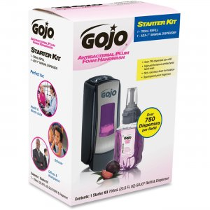 GOJO 8712D1 ADX-7 Dispenser Plum Foam Handwash Starter Kit GOJ8712D1