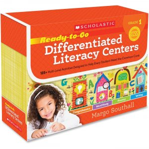 Scholastic 0545549973 Ready-to-Go Differentiated Literacy Centers: Grade 1