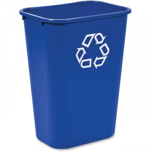 Rubbermaid 295773BLUE 2957-73 Deskside Recycling Container, Large with Universal Recycle Symbol RCP295773BLUE