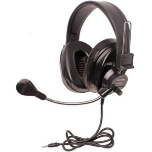 Califone 3066-BKT Deluxe Multimedia Stereo Headsets w/Mic and To Go Plug Via Ergoguys