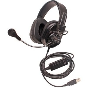 Califone 3066USB-BK Deluxe Multimedia Stereo Headsets w/Mic, USB Via Ergoguys