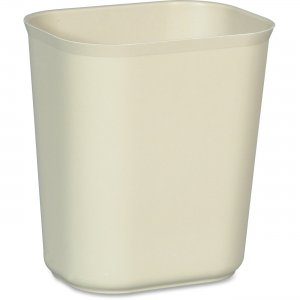Rubbermaid Commercial 254100BEIG 14qt. Fire Resistant Wastebaskets RCP254100BEIG