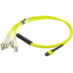 AddOn CAB-M12P4LC-S3-AO 3m MPO to 4xLC Duplex Fanout SMF Yellow Patch Cable For Arista
