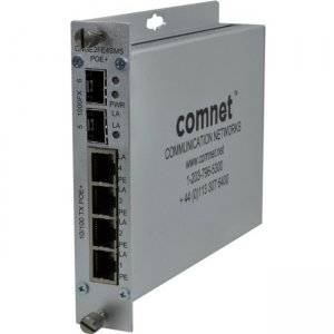 ComNet CNGE2FE4SMSPOEHO 10/100/1000 Mbps Drop/Insert/Repeat Gigabit Uplink Switch with Optional PoE+