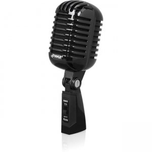 PylePro PDMICR42BK Classic Retro Vintage Style Dynamic Vocal Microphone with 16ft XLR Cable (Black)