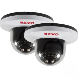 Revo RCDS30-8BNDL2 700 TVL Indoor Dome Surveillance Camera with 100 ft. Night Vision (2-Pack)
