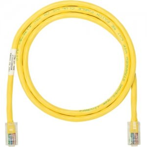 Panduit NK5EPC5YLY Netkey Copper Patch Cord, Category 5e, 5 ft., Yellow UTP Cable.