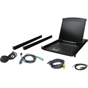 "Iogear GCL1916 16-Port 19"" LCD KVM Drawer"