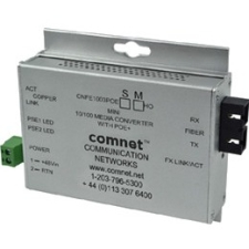 "ComNet CNFE1004APOEMHO/M Industrially Hardened 100Mbps Media Converter with 48V POE, Mini, ""A"" Unit"