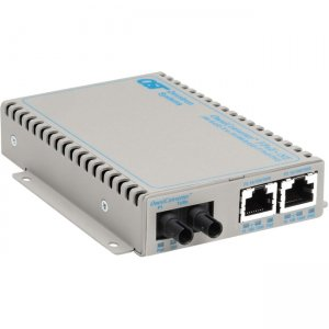 Omnitron Systems 9380-0-21 OmniConverter FPoE+/SE 2x PoE+ ST Multimode 5km US AC Powered 9380-0-x