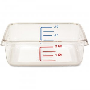 Rubbermaid 630200CLR Space Saving Square Container RCP630200CLR