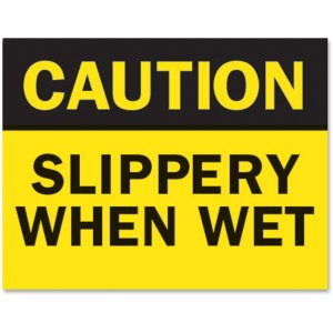 "Tarifold P1949SW Safety Sign Inserts-""Caution ... Wet TFIP1949SW"