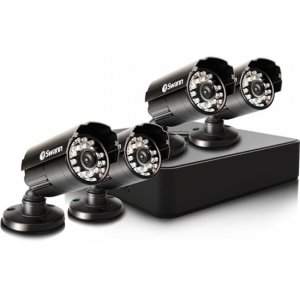 Swann SWDVK-4ALP14-US Compact Security System - 4 Channel Digital Video Recorder & 4 Cameras