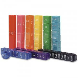 Learning Resources 2509 Fraction Tower Equivalency Cube