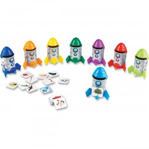 Learning Resources LER 5462 Rhyme/Sort Rockets Activity Set