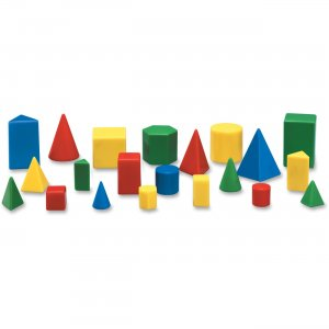 Learning Resources LER0913 Mini GeoSolids Shapes Set