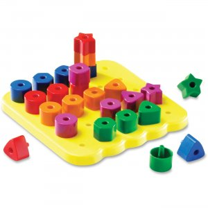 Learning Resources LER1572 Stacking Shapes Pegboard