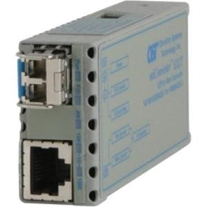 Omnitron Systems 1223-1-1Z 10/100/1000BASE-T to 1000BASE-X Ethernet Media Converter 1223-1-x