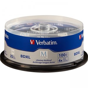 Verbatim 98914 M-Disc BDXL 100GB 4X with Branded Surface - 25pk Spindle