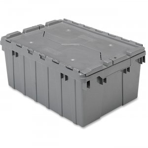 Akro-Mils 39085GREY Attached Lid Container AKM39085GREY