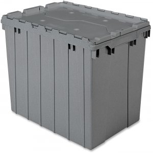 Akro-Mils 39170GREY Attached Lid Container AKM39170GREY
