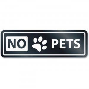 U.S. Stamp & Sign 9439 No Pets Window Sign USS9439