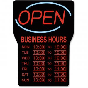 Royal Sovereign RSB-1342E LED Open with Business Hours Sign English RSIRSB1342E