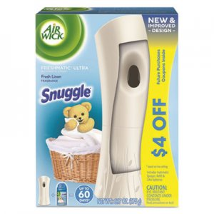 Air Wick RAC93554 Freshmatic Ultra Automatic Starter Kit, Snuggle Fresh Linen,6.17oz Aerosl,4/CT