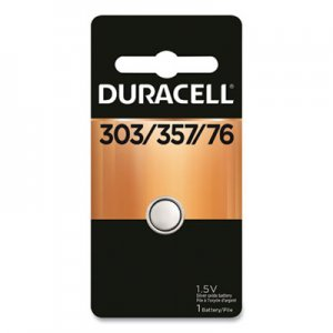 Duracell DURD303357PK Button Cell Silver Oxide Calculator/Watch Battery, 303/357, 1.5V, 6/Box