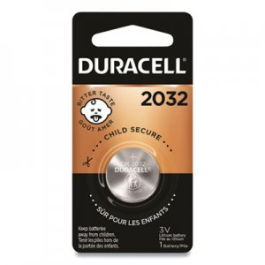 Duracell DURDL2032BPK Button Cell Lithium Electronics Battery, 2032, 3V, 6/Box