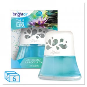 Bright Air 900115CT Scented Oil Air Freshener, Calm Waters and Spa, Blue, 2.5oz, 6/Carton BRI900115CT