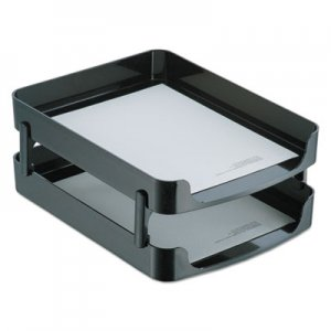 Officemate OIC22236 2200 Series Front-Loading Desk Tray, Two Tiers, Plastic, Letter, Black