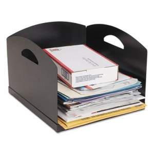 SteelMaster MMF264001H04 Big Stacker Inbox Desk Tray, Single Tier, 11 x 12 x 8, Black