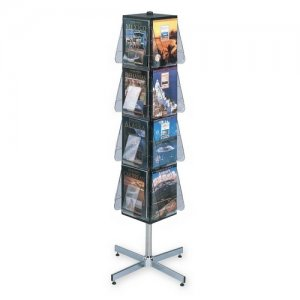 Deflecto 58021 Stand-tall Literature Display Floor Rack DEF58021