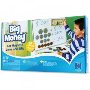 Educational Insights 3063 Big Money Magnetic Coins and Bills