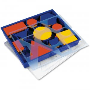 Learning Resources 1270 Attribute Block Set: Desk Set in Plastic Storage Tray