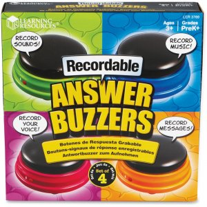 Learning Resources 3769 Recordable Answer Buzzers (Set of 4)
