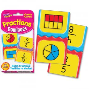 TREND 24009 Fractions Dominoes Challenge Cards