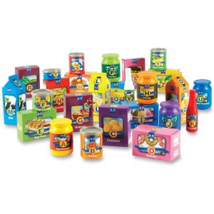 Learning Resources 7729 A-Z Alphabet Groceries Activity Set